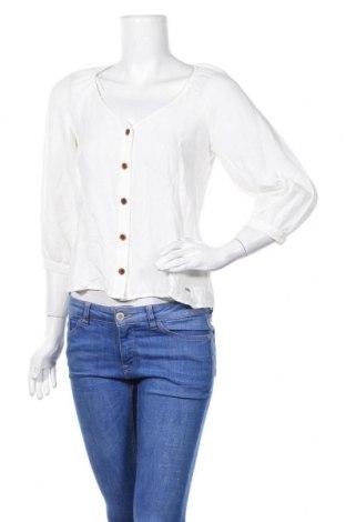 Дамска риза Tom Tailor, Размер S, Цвят Бял, 99% памук, 1% полиестер, Цена 25,50лв.