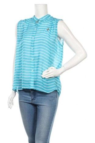 Дамска риза U.S. Polo Assn., Размер L, Цвят Син, Полиестер, Цена 13,60лв.