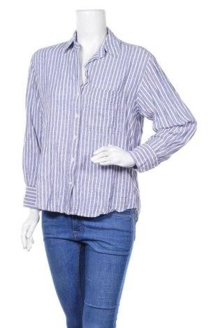 Дамска риза Zara, Размер M, Цвят Син, Цена 13,02лв.
