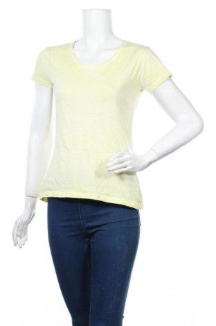 Дамска тениска, Размер S, Цвят Жълт, Памук, Цена 4,56лв.
