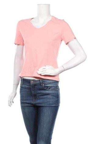 Дамска тениска, Размер M, Цвят Розов, 92% памук, 8% еластан, Цена 17,85лв.