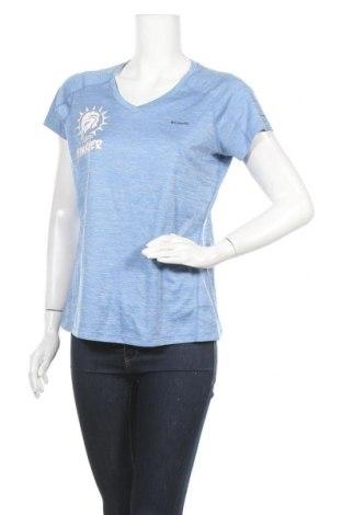 Дамска тениска Columbia, Размер L, Цвят Син, Полиестер, Цена 27,30лв.