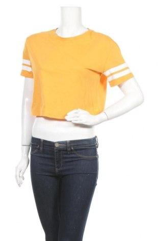 Дамска тениска H&M Divided, Размер S, Цвят Жълт, Памук, Цена 5,54лв.