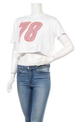 Дамска тениска H&M Divided, Размер M, Цвят Бял, Памук, Цена 11,00лв.