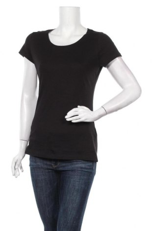 Дамска тениска H&M L.O.G.G., Размер M, Цвят Черен, Памук, Цена 12,60лв.