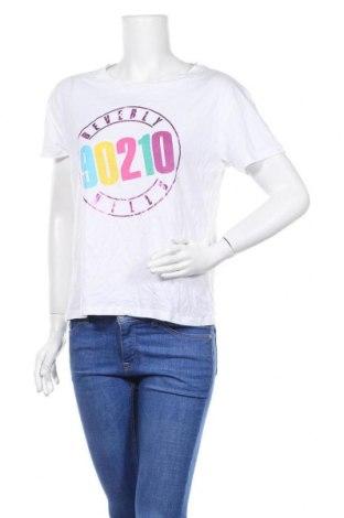 Дамска тениска Mango, Размер M, Цвят Бял, 50% памук, 50% модал, Цена 21,45лв.