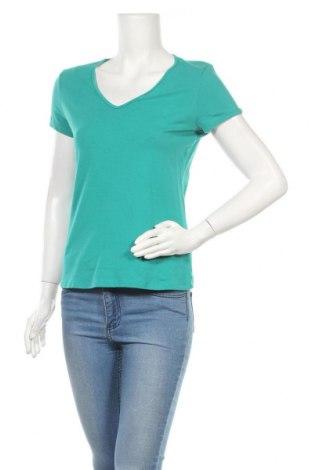 Дамска тениска Marks & Spencer, Размер L, Цвят Зелен, 97% памук, 3% еластан, Цена 10,50лв.