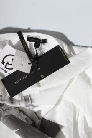 Дамска тениска Massimo Dutti, Размер L, Цвят Бял, Памук, Цена 15,40лв.