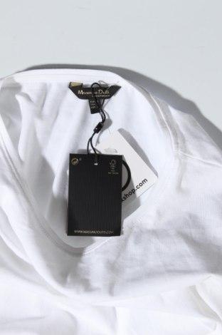 Дамска тениска Massimo Dutti, Размер XL, Цвят Бял, 92% памук, 8% еластан, Цена 20,65лв.