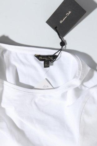 Дамска тениска Massimo Dutti, Размер L, Цвят Бял, 92% памук, 8% еластан, Цена 20,65лв.