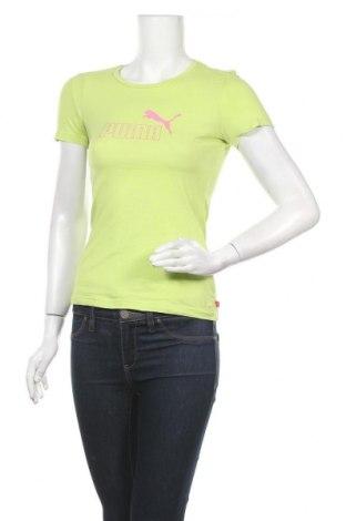 Дамска тениска PUMA, Размер S, Цвят Зелен, Цена 27,30лв.