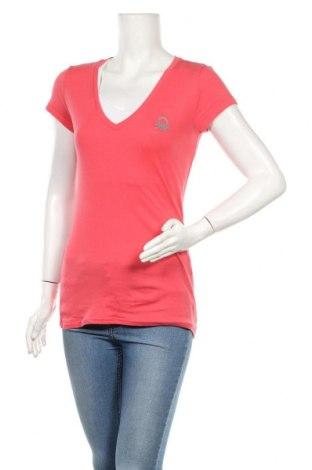 Дамска тениска United Colors Of Benetton, Размер M, Цвят Розов, Цена 10,50лв.