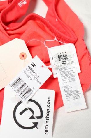 Дамски бански Billabong, Размер XL, Цвят Червен, 85% полиестер, 15% еластан, Цена 12,25лв.