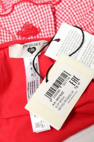 Дамски бански TWINSET, Размер M, Цвят Червен, 92% полиамид, 8% еластан, Цена 16,02лв.