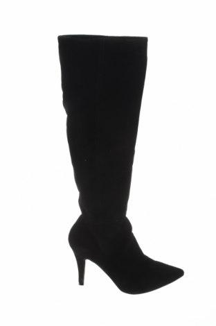 Дамски ботуши Elodie, Размер 39, Цвят Черен, Естествен велур, Цена 81,90лв.