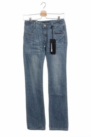 Дамски дънки Kenvelo, Размер XS, Цвят Син, 81% памук, 19% полиестер, Цена 9,71лв.