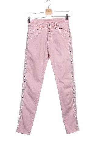 Дамски дънки, Размер XS, Цвят Розов, 98% памук, 2% еластан, Цена 23,10лв.