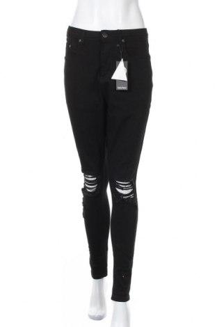 Γυναικείο Τζίν Boohoo, Μέγεθος XL, Χρώμα Μαύρο, 65% βαμβάκι, 33% πολυεστέρας, 2% ελαστάνη, Τιμή 24,68€