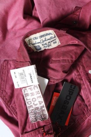 Дамски дънки Cipo & Baxx, Размер S, Цвят Розов, 98% памук, 2% еластан, Цена 21,42лв.