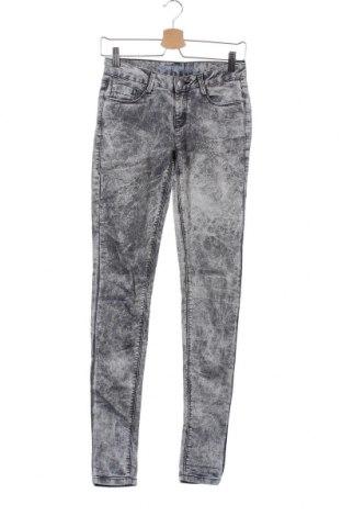 Дамски дънки Denim&Co., Размер XS, Цвят Сив, 78% памук, 20% полиестер, 2% еластан, Цена 16,17лв.