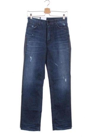 Дамски дънки Dondup, Размер XS, Цвят Син, 95% памук, 5% еластан, Цена 54,88лв.