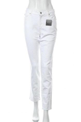 Дамски дънки Eddie Bauer, Размер L, Цвят Бял, 93% памук, 7% еластан, Цена 48,30лв.