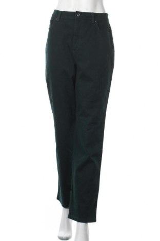 Дамски дънки Gloria Vanderbilt, Размер L, Цвят Зелен, 98% памук, 2% еластан, Цена 47,04лв.