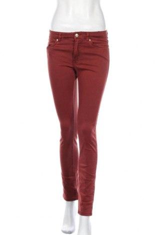 Дамски дънки H&M L.O.G.G., Размер S, Цвят Червен, 98% памук, 2% еластан, Цена 26,25лв.