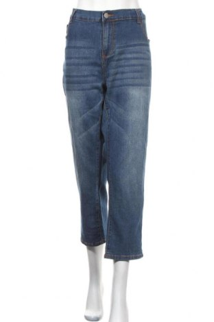Дамски дънки Janina, Размер 3XL, Цвят Син, 76% памук, 23% полиестер, 1% еластан, Цена 25,94лв.