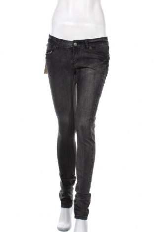 Дамски дънки Kenvelo, Размер M, Цвят Черен, 63% памук, 35% полиестер, 2% еластан, Цена 42,84лв.