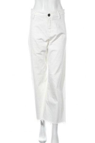 Дамски дънки Massimo Dutti, Размер M, Цвят Бял, 98% памук, 2% еластан, Цена 28,80лв.