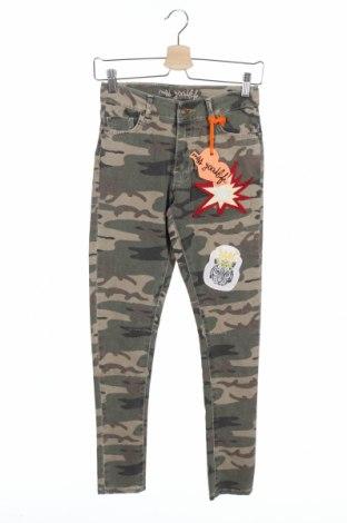 Дамски дънки Miss Goodlife, Размер XS, Цвят Многоцветен, 98% памук, 2% еластан, Цена 17,36лв.