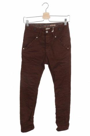 Дамски дънки Please, Размер XXS, Цвят Кафяв, 98% памук, 2% еластан, Цена 19,08лв.