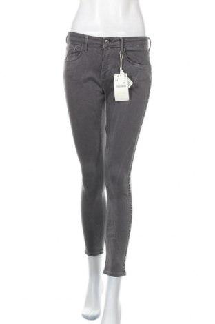 Дамски дънки Zara, Размер M, Цвят Сив, 92% памук, 8% еластан, Цена 20,16лв.