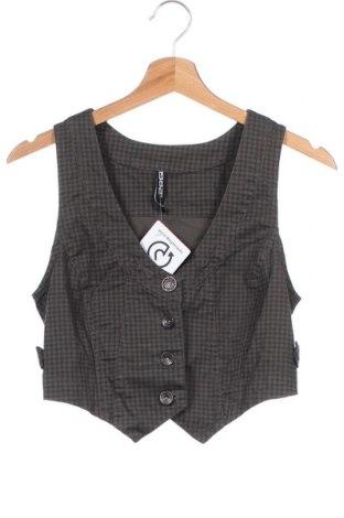 Дамски елек, Размер XS, Цвят Кафяв, 98% памук, 2% еластан, Цена 6,30лв.