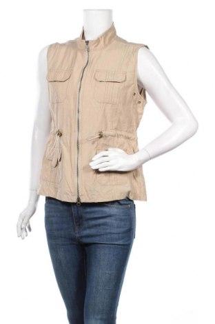 Γυναικείο γιλέκο Christopher & Banks, Μέγεθος L, Χρώμα  Μπέζ, 51% πολυαμίδη, 49% βαμβάκι, Τιμή 5,68€