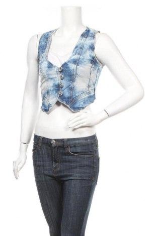 Dámská vesta  Dromedar, Velikost S, Barva Modrá, 80% bavlna, 18% polyester, 2% elastan, Cena  106,00Kč