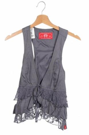 Дамски елек Edc By Esprit, Размер XS, Цвят Сив, Вискоза, Цена 4,73лв.