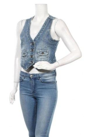 Дамски елек Gina, Размер M, Цвят Син, 98% памук, 2% еластан, Цена 7,35лв.