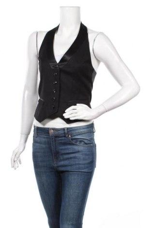 Дамски елек H&M, Размер S, Цвят Черен, 65% полиестер, 35% вискоза, Цена 6,83лв.