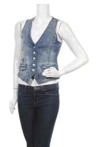Дамски елек H&M L.O.G.G., Размер S, Цвят Син, 99% памук, 1% еластан, Цена 6,30лв.