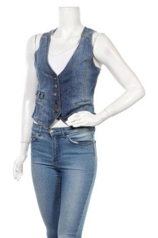 Дамски елек H&M L.O.G.G., Размер S, Цвят Син, 99% памук, 1% еластан, Цена 7,09лв.