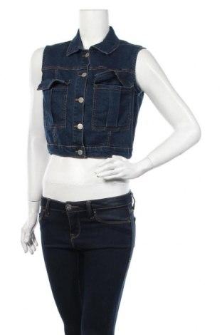 Дамски елек New Look, Размер M, Цвят Син, 83% памук, 15% полиестер, 2% еластан, Цена 27,30лв.