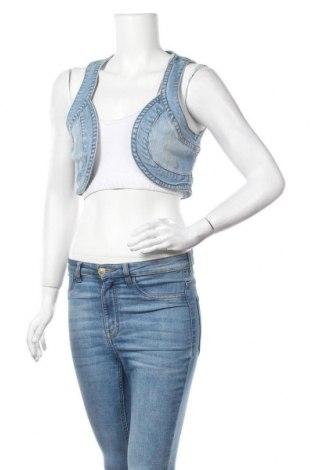 Дамски елек Nkd, Размер M, Цвят Син, 98% памук, 2% еластан, Цена 20,79лв.