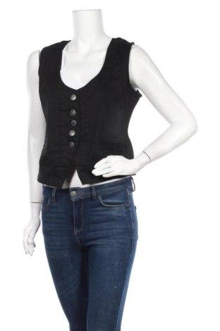 Дамски елек Okay, Размер M, Цвят Черен, 98% памук, 2% еластан, Цена 4,73лв.