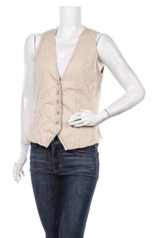 Дамски елек S.Oliver, Размер L, Цвят Бежов, 98% памук, 2% еластан, Цена 6,40лв.