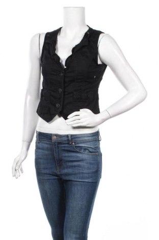Дамски елек Street One, Размер S, Цвят Черен, 98% памук, 2% еластан, Цена 5,51лв.