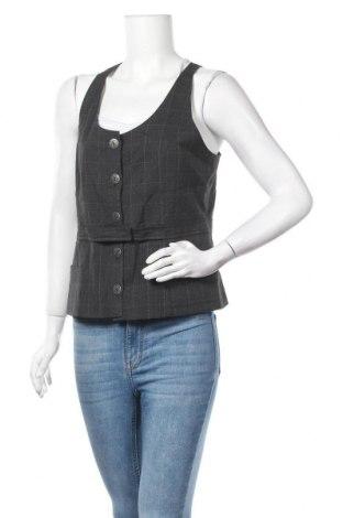 Дамски елек Suzy Shier, Размер L, Цвят Сив, 64% полиестер, 33% вискоза, 3% еластан, Цена 6,30лв.
