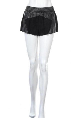 Дамски къс кожен панталон Buddha, Размер M, Цвят Черен, Естествена кожа, естествен велур, Цена 30,71лв.