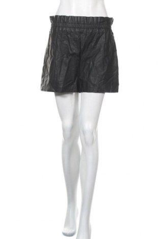 Дамски къс кожен панталон Even&Odd, Размер M, Цвят Черен, Еко кожа, Цена 21,00лв.